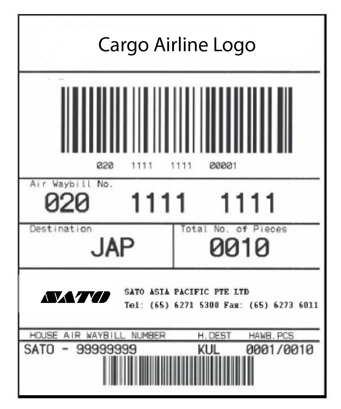 IATA Cargo Label Printing