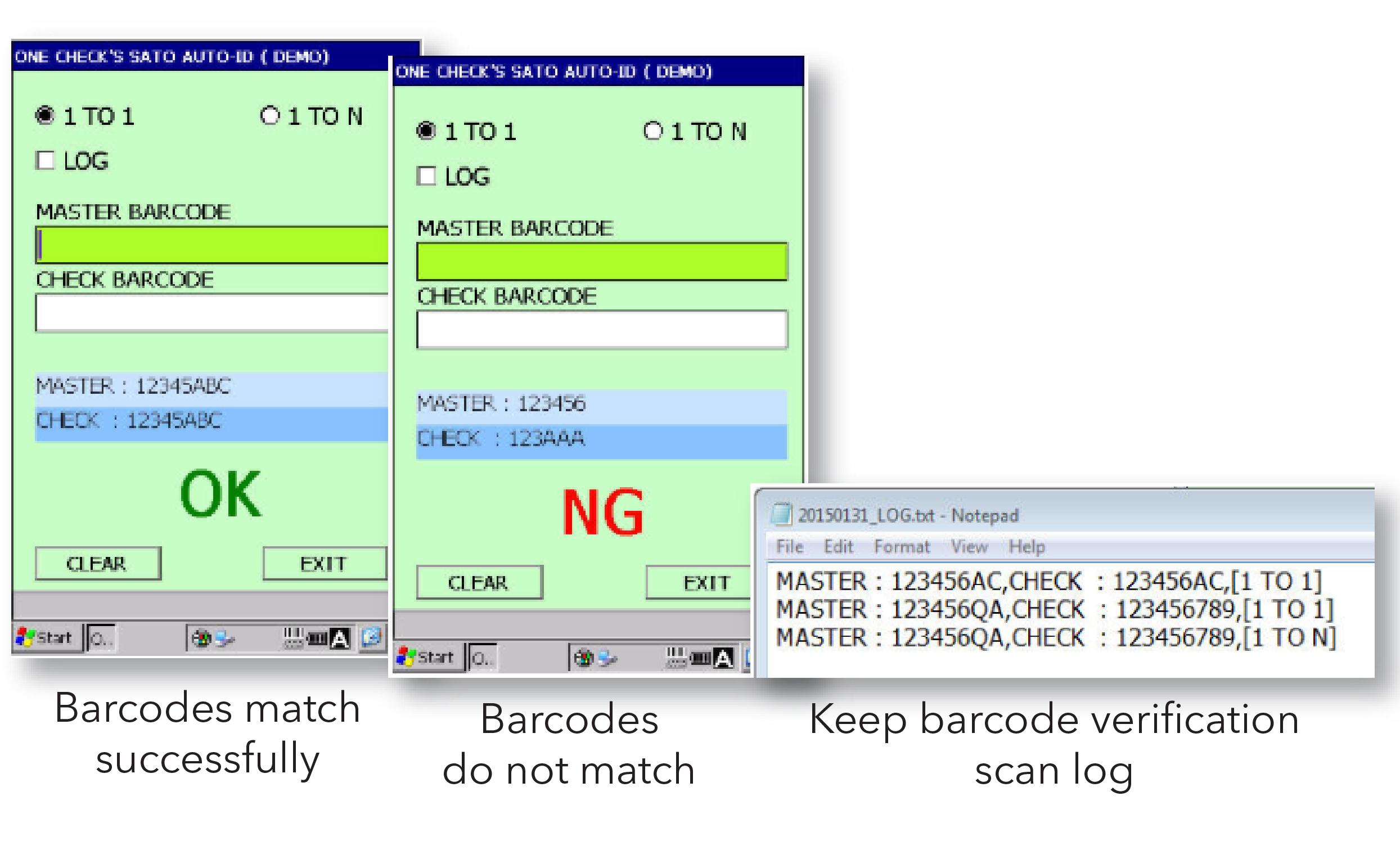 Barcode Verification one-check system barcode verificationsato
